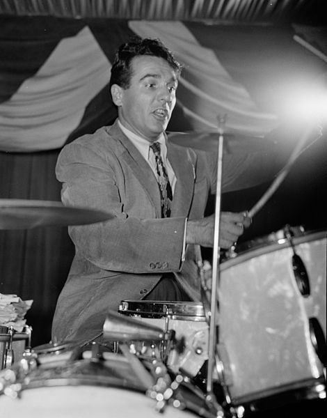 "Gene Krupa - the drummer who ""put drummer's on the map""."